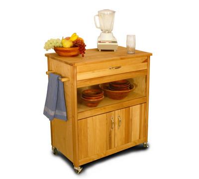 Catskill Craftsmen Wide Cuisine Kitchen Cart Kitchen
