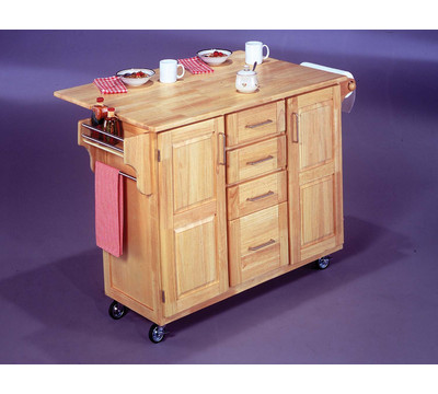 Home styles kitchen cart with drop leaf breakfast bar kitchen