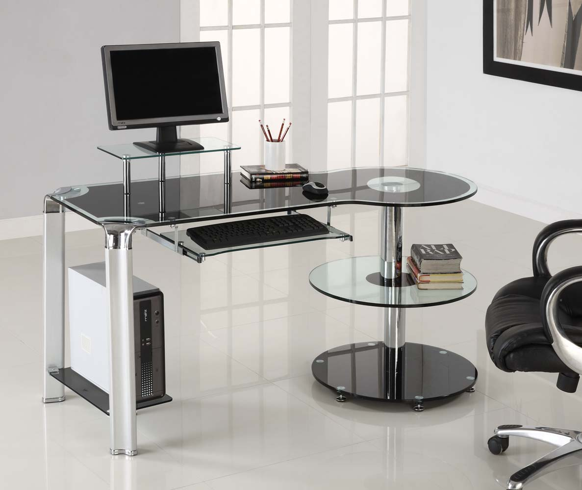 Computer Desks, Roman Shades