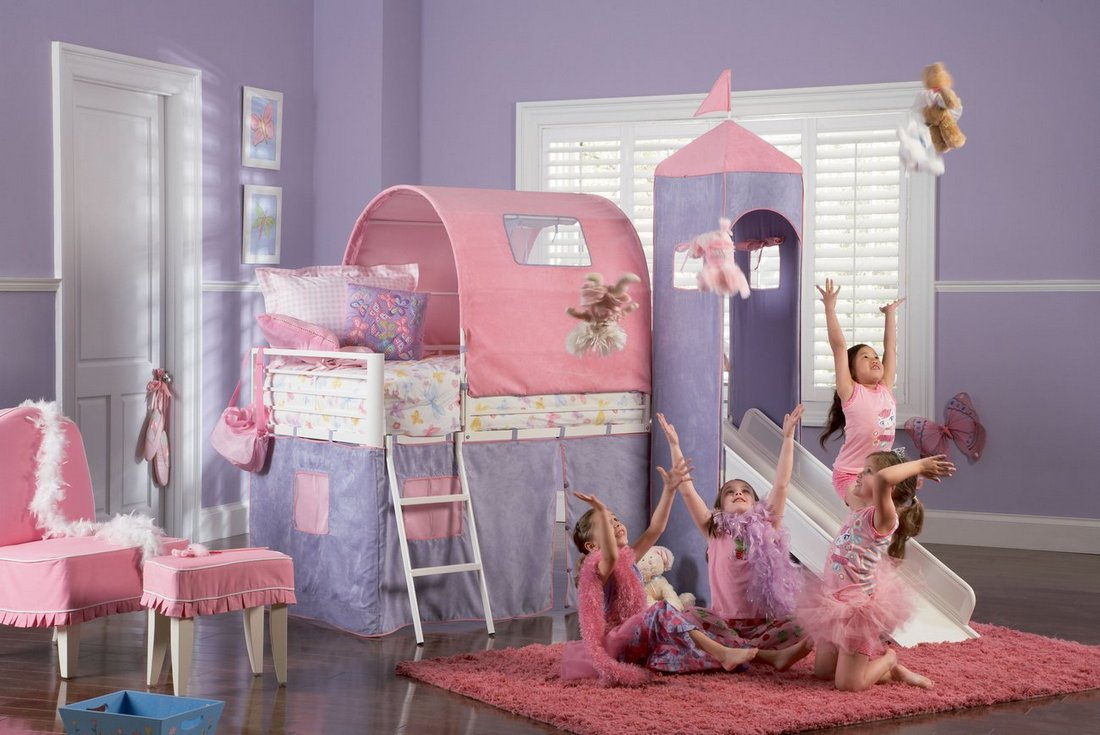 Toddler Bed For Girl Princess: Princess Castle Toddler Bed