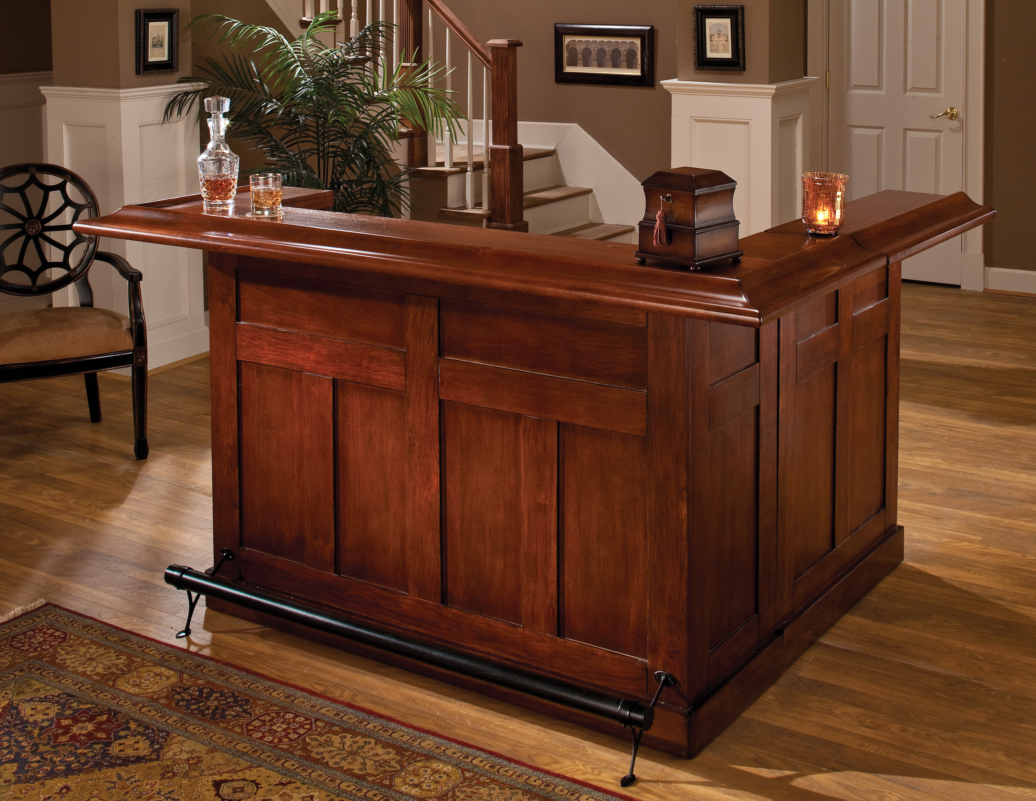 Oak Home Bar